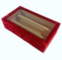 Addyz Jewelry Bangle Box Transparency-2 Rods Jewelry Storage Vanity Box (Maroon)