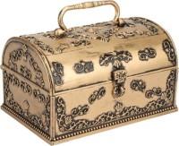 Sogo Mini Pitara Gold Antique Gold To Store Jewellery Vanity Multi Purpose (Gold)
