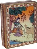 R S Jewels Vanity Boxes R S Jewels Rajasthani Gem Stone Painting Wooden Jewellery Vanity Multi Purpose