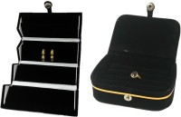 Addyz Combo Of Ring Earing Vanity Box Jewellery Vanity Multi Purpose (Black)