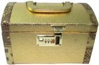Siona Crafts Golden Wooden Designer Jewellery Vanity Box (Golden)