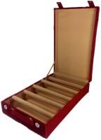 Addyz Jewelry Bangle Box Plain-5 Rods Jewelry Storage Vanity Box (Maroon)