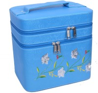 Styler Embroidery Design Makeup Vanity Box (Blue)