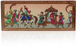 Rajwada Arts Vanity Boxes Rajwada Arts Gemstone Procession Painting Multi Purpose Box With Brass Beading Jewellery Vanity Case