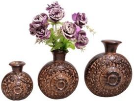 Onlineshoppee set of 3 Wooden Vase