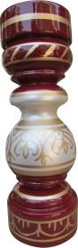 Hastakala Bazaar Handpainted 9 Inch Wooden Vase