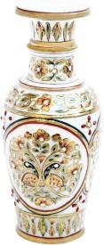 Handicrafts Paradise Peacock Emboss Flower Pot Stoneware Vase