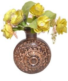 Onlineshoppee Handwork Design Wooden Vase
