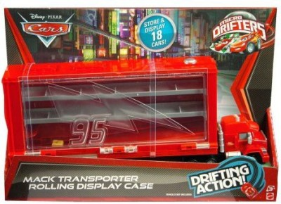 Mattel Cars, Trains & Bikes Mattel Cars Micro Drifters Mack Display Case Playset