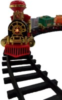 SMT Battery Operated Light Sound Smoke Choochoo Classical Train Track Set For (Multicolor)
