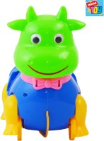 Mera Toy Shop Pull Along Cow With Bricks (Multicolor)
