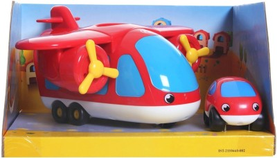 Smoby Cars, Trains & Bikes Smoby Vroom Planet Cargo Plane with One Car Red