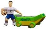 Techege Toys Push & Pull Along Techege Toys Spinning Soccer Skateboarder Bump'N'Go Soccer Futbol