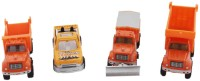Tootpado Construction Model Metal Toy Truck Car (Pack Of 4) (Multicolor)