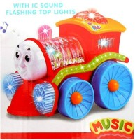 Turban Toys Toy Train Engine With Lights, Bump And Go Action (Multicolor)