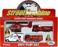 Mamaboo Street Machine Fire Truck Gift Set - 4 Pcs (Multicolor)