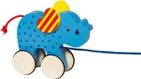 BabyCentre Goki Pull Along Animal Basjo Elephant (Multicolor)