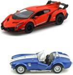 Kinsmart Cars, Trains & Bikes Kinsmart Lamborghini Veneno and Shelby CObra