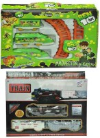 Turban Toys Combo Of Ben 10 & Black Train (Green, Black)
