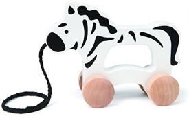 Hape E0909 Push & Pull Zebra Toy