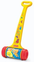 Fisher-Price Brilliant Basics Melody Push Chime (Yellow, Blue)