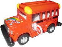 Smart Picks Kinsfun 4 Inch School Diecast Metal Bus (Multicolor)