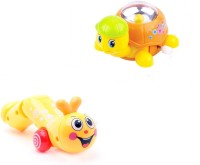 AV Shop Combo Of 2 Twisty Caterpillar & Naughty Turtle Wind Up Toys (Multicolor)