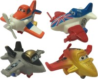Bento Bento Safety Rubber Mini Speed Pull Back Go Action Airplane Set (Multicolour)