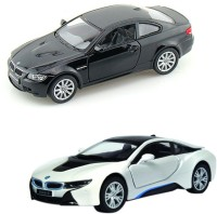 I-Gadgets BMW I8 Silver And BMW M3 Coupe Black (Black, Silver)