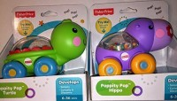 Fisher-Price Poppity Pop Turtle & Hippo Set (Multicolor)