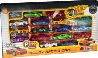 Toyzstation GT-800 Die Cast Car Set Of 16 (Multicolor)