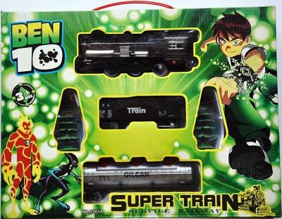 Ruppiee Shoppiee Ben 10 Super Train (Green)