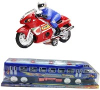 New Pinch Combo Of Friction Bike & Friction Train For Kids (Multicolor)