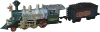 AdraxX Green Steam Engine Train Toy With Tracks (Green)