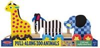 Melissa & Doug Pull-Along Zoo Animals 289 (Multicolor)