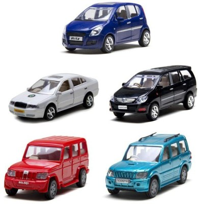 A R Enterprises Ritz, Bolero, Scorpio, Innova & Scoda Octavi Combo Of 5 Cars (Multicolor)