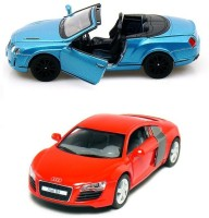 I-Gadgets Kinsmart Bentley Blue And Audi R8 Red (Blue, Red)