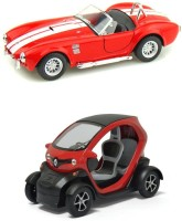 Kinsmart Shelby Cobra And Renault Twizy Mini Model (Multicolor)