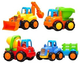 Liberty Imports Set Of 4 Cartoon Friction Powered Playfor Toddlers Dump