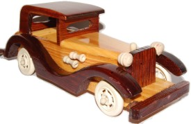 Kfore 8 Inch Classic Vintage Wooden Toy Car