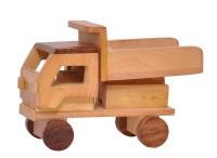 Cartoonpur Hand Made Wooden Truck Pull Push Along (Brown)