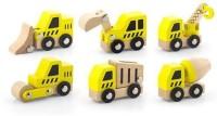 Viga Construction Vehicles 6 Pcs Set (Multicolor)