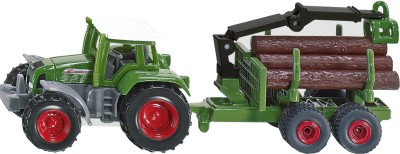 Siku Cars, Trains & Bikes Siku Tractor with Forestry Trailer