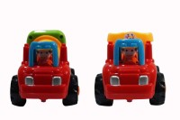 Parv Collections Unbreakable Concrete Mixer & Truck (Red, Yellow)