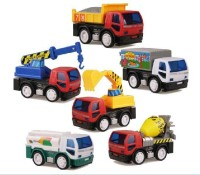 Jouet Pack Of 6 Friction Toy Trucks (Multicolor)