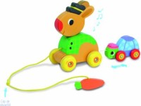 Vilac The Tortoise And The Hare Pull Along Musical Toy (Multicolor)