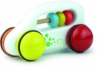 Vilac Push And Pull Baby Toy Abacus Car, White (Multicolor)