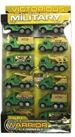 Victorious 12 Pack Miltiary Pull Back Truck Set (Green)