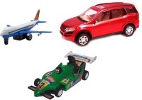 A R Enterprises Combo Of Aeroplane, Xuv And F1 Car (Multicolor)