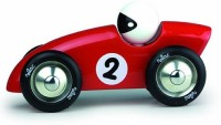 Vilac Competition Car Push And Pull Baby Toy, Red, Large (Red)